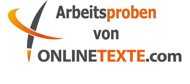 Arbeitsproben von onlinetexte.com