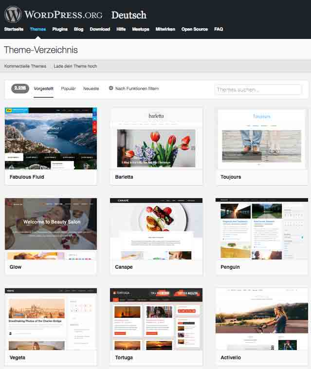 WordPress-Themes (Screenshot)
